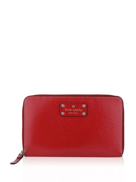 Carteira Kate Spade Wellesley Travel Folio Vermelha