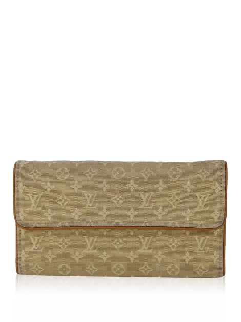 Carteira Louis Vuitton Mini Lin Porte-Tresor