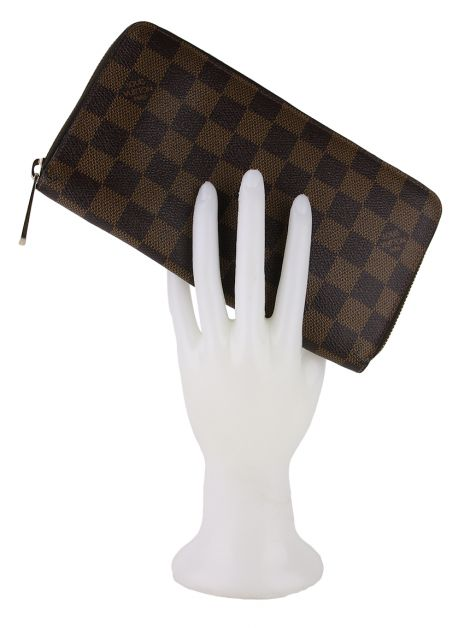 Carteira Louis Vuitton Zipper Damier Ebene