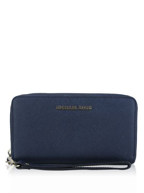 Carteira Michael Kors Jet Set Travel  Smartphone Azul