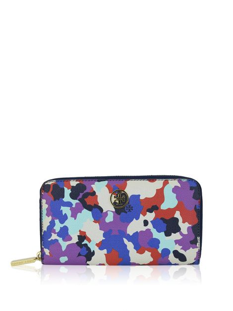 Carteira Tory Burch Canvas Estampada