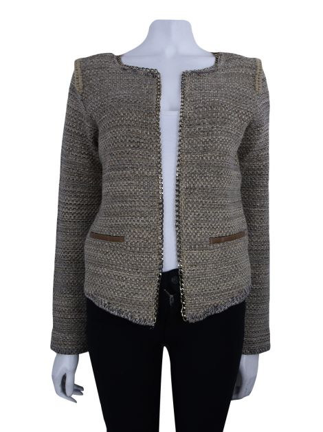 Casaco Animale Tricot Taupe