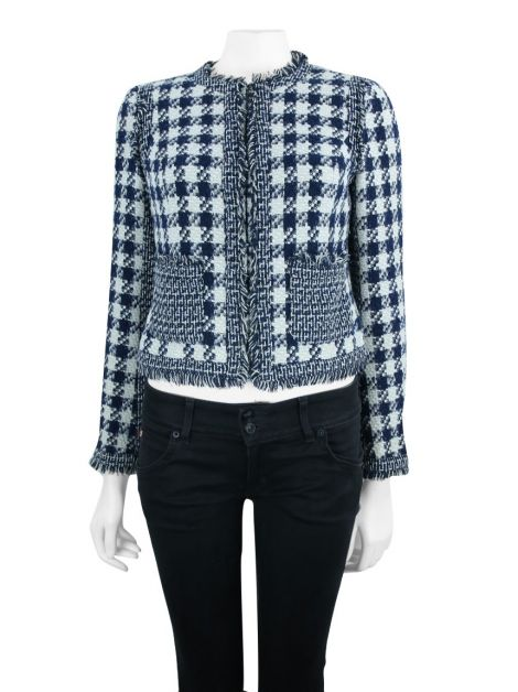 Casaco Tory Burch Tweed Bicolor
