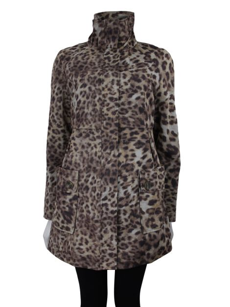 Casaco Weatherproof Alongado Animal Print