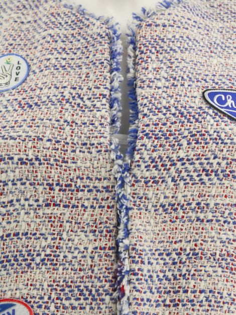 Casaquinho Sandro Tweed Patches Tricolor