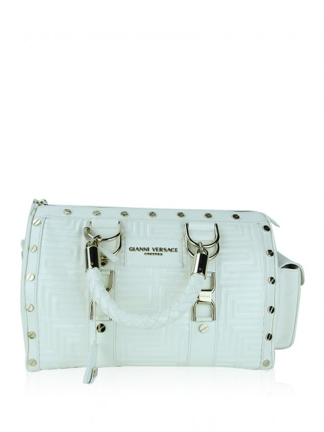 Bolsa Gianni Versace Couture Snap Out Of It Off White