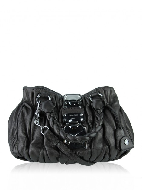 Bolsa Miu Miu Coffer Two Way Cinza