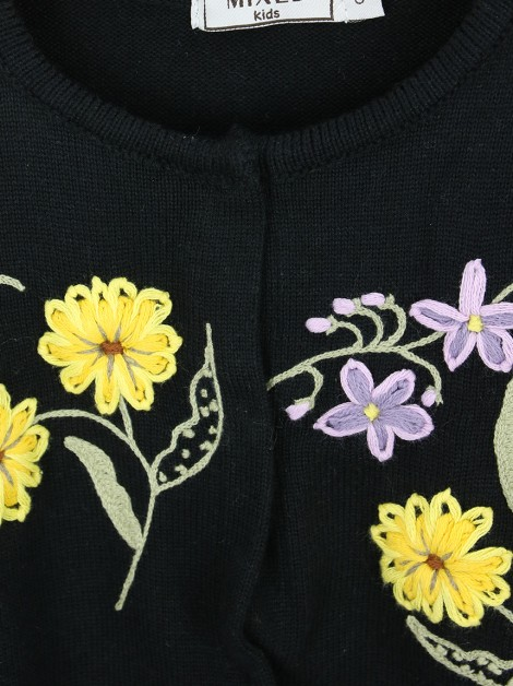 Casaco Mixed Flowers Tricot Infantil