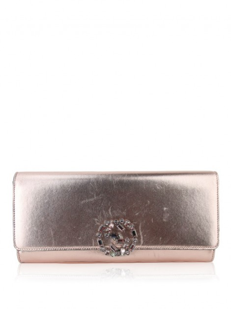 Clutch Gucci Crystal GG Sparkling Rose