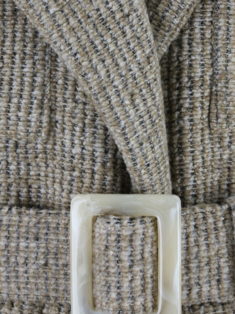 Casaco Framed Tricot Nude