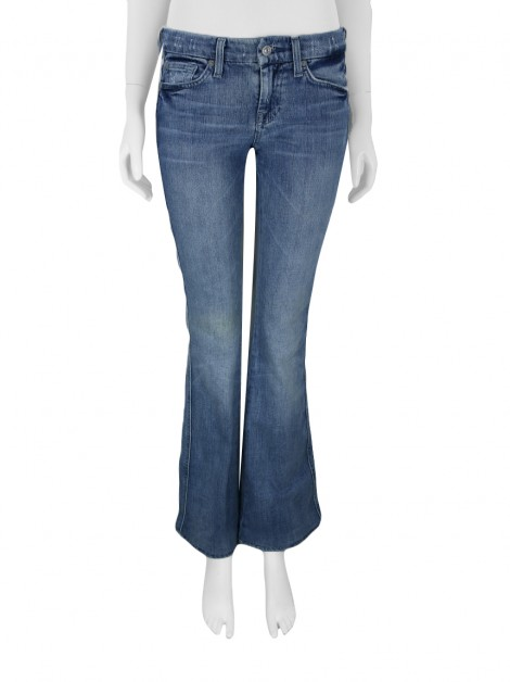 Calça Seven For All Mankind A Pocket Jeans Estonado Azul Claro