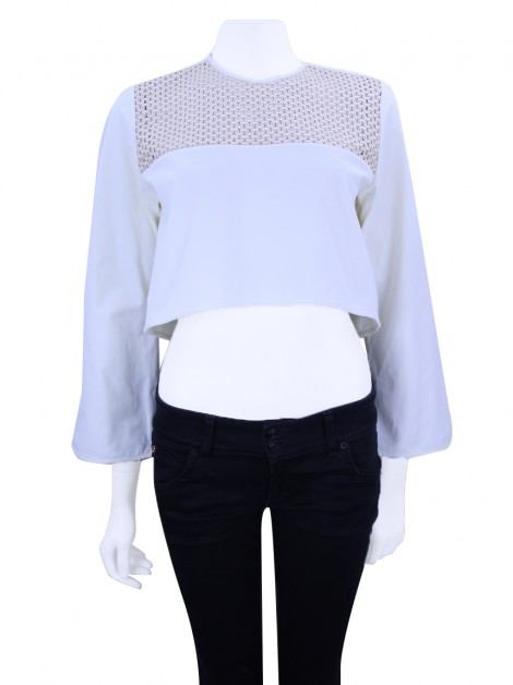 Blusa Paula Raia Cropped Off White