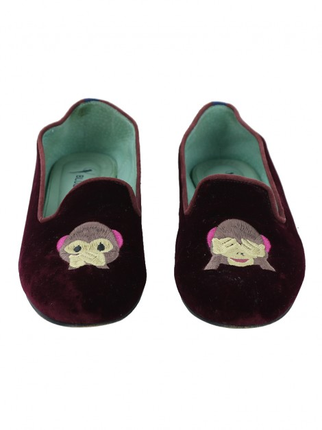 Loafer Blue Bird Monkeys Bordô