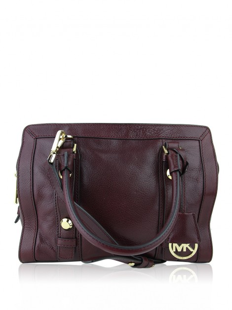Bolsa Michael Kors Collins Merlot Bordo
