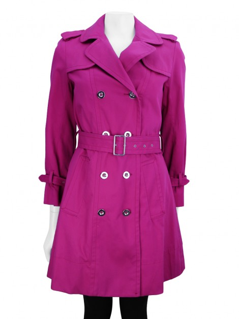 Trench Coat Marc By Marc Jacobs Tecido Rosa
