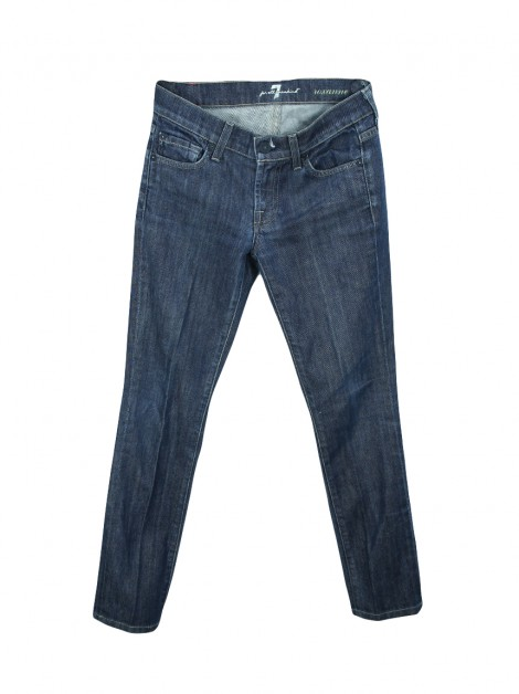Calça Seven For All Mankind Roxanne Jeans Azul Escura