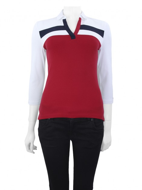 Blusa Tommy Hilfiger Polo Tricolor