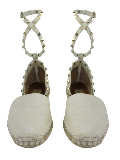 Espadrille Valentino Rockstud Double Off-White