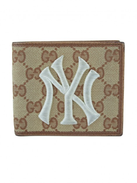 Carteira Gucci GG Canvas NY Yankees
