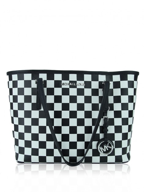 Bolsa Michael Kors Small Jet Set Checkerboard