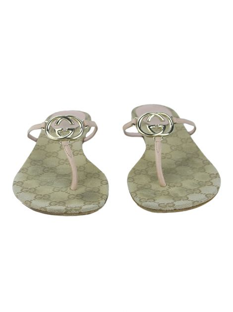 Chinelo Gucci Interlocking G Rosa