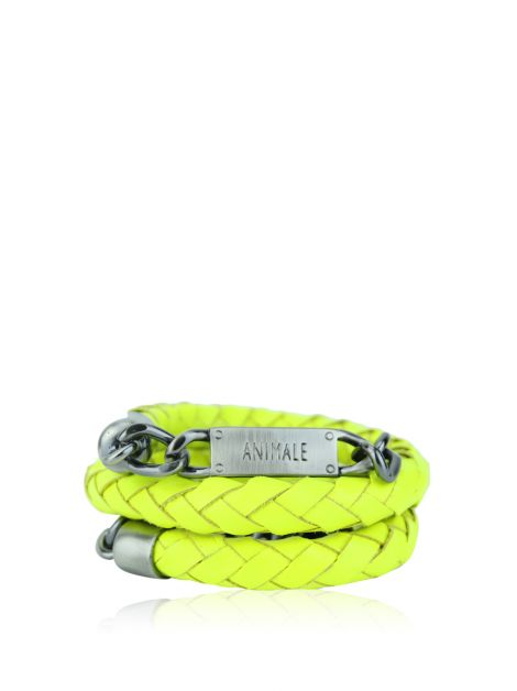 Cinto Animale Couro Neon