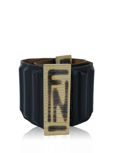 Cinto Fendi Wood Buckle