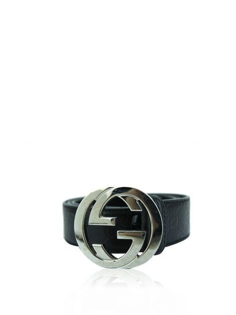Cinto Gucci Interlocking GG Preto