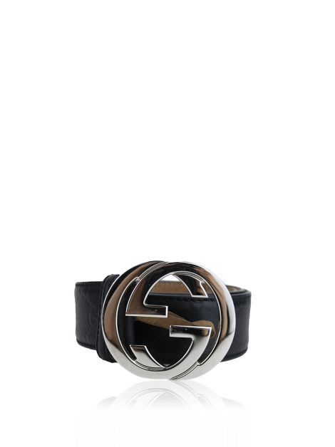 Cinto Gucci Signature Guccissima Interlocking G Preto