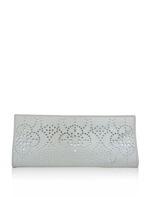 Clutch Alaia Perle Laser Cut Leather Nude