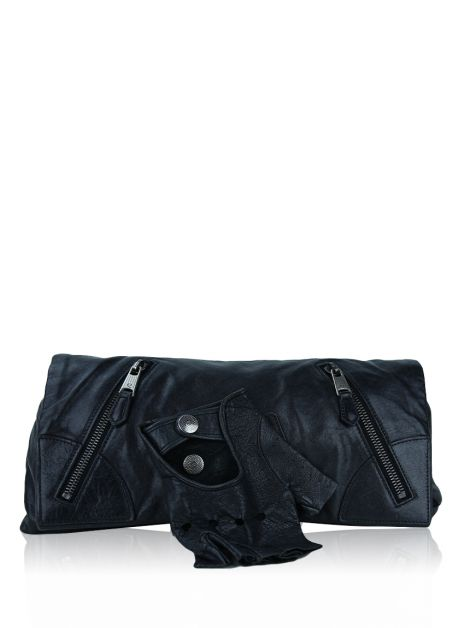 Clutch Alexander McQueen Faithful Glove Preta