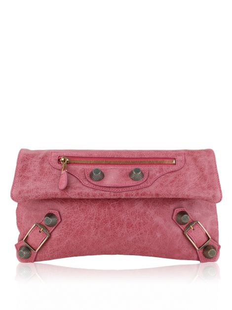 Clutch Balenciaga Giant 21 Rose Bon Bon