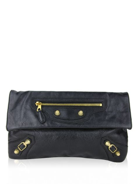 Clutch Balenciaga Giant Envelope Preto