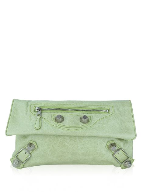 Clutch Balenciaga Giant Envelope Verde