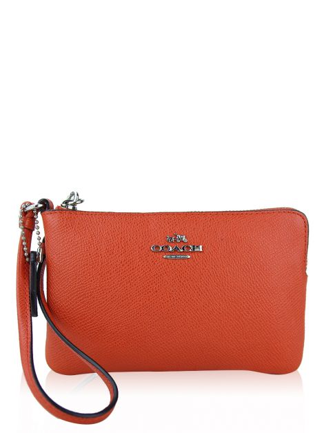 Clutch Coach Small Corner Zip Wristlet Laranja