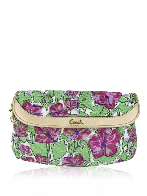 Clutch Coach Wristlet Estampada