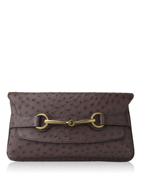 Clutch Gucci Horsebit Etoupe