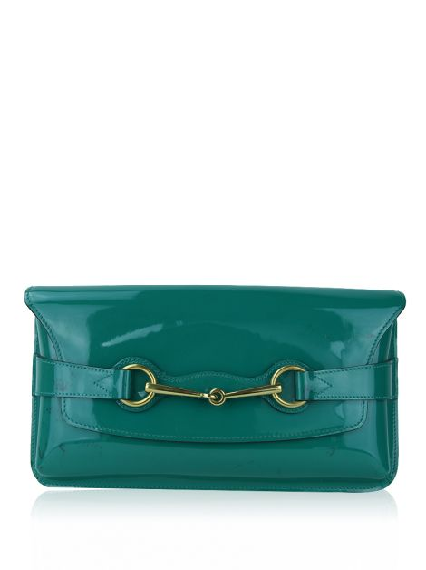 Clutch Gucci Horsebit Verde