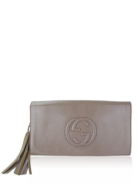Clutch Gucci Soho Soft Patent Nude