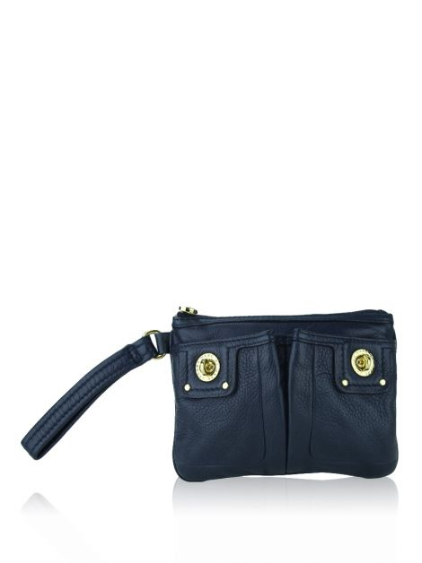 Clutch Marc By Marc Jacobs Totally Turnlock Wristlet Azul Marinho