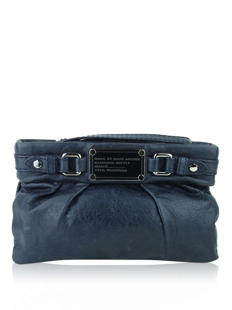Clutch Marc By Marc Jacobs Wristlet Standard Supply Azul Marinho