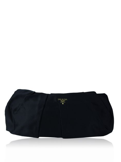 Clutch Prada Pleated Satin Evening Preto