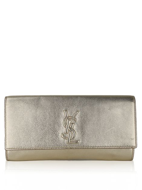 Clutch Yves Saint Laurent Belle de Jour Dourada