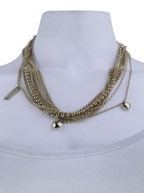 Colar Moschino Cheap and Chic Love and Chains Choker Dourado