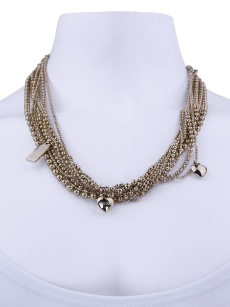 Colar Moschino Cheap and Chic Love and Chains Dourado