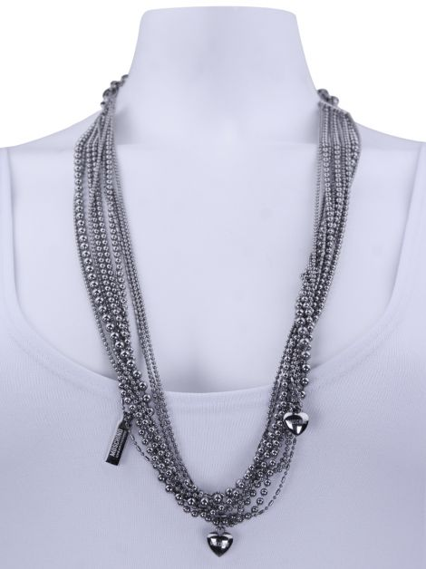 Colar Moschino Cheap and Chic Love and Chains Prateado