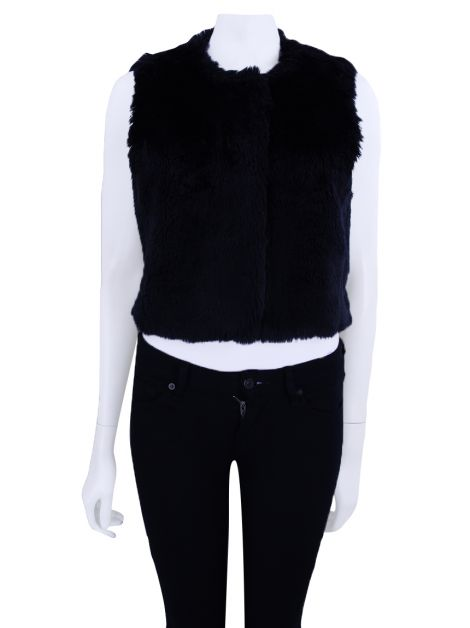 Colete Mixed Faux Fur Preto