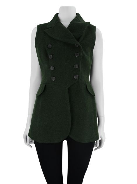Colete Ralph Lauren Collection Lã Verde