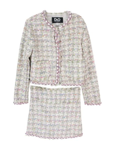 Conjunto D&G Junior Tweed Colorido Infantil
