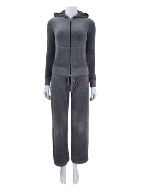 Conjunto Juicy Couture Velour Cinza